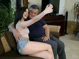 Ass, Ass licking, Babe, Beauty, Blowjob, Cum, Cumshot, Facial, Handjob, Kissing, Lick, Old, Pussy, Riding, Small cock, Small tits, Teen, Tits
