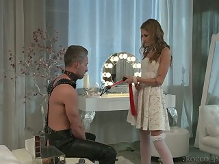 Horny svelte bride Tiffany Tatum is poked from behind darn excellent
