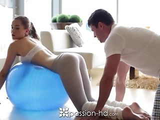 Morning exercise turns come into possession of a superb tear up in many poses free porn