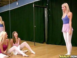 Brunette sex video featuring Breanne Benson, Louisa Lanewood and Sammie Rhodes