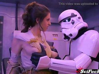 Stella Cox got her cooch plumbed prevalent Starlet Wars porno parody