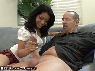 Queasy Latina Schoolgirl Wants Old Teachers Dick
