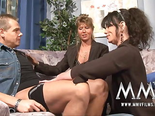 MMV Films Mature teacher having pastime with respect to a couple