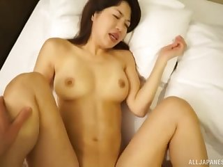 Petite Japanese brunette MILF Barbara gets her soft pussy pounded