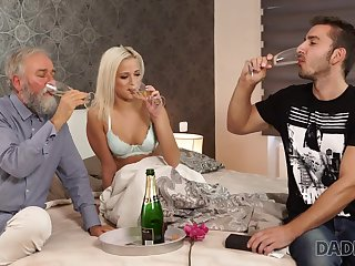 DADDY4K. Venerable and young babe intercourse experiment is a birthday...