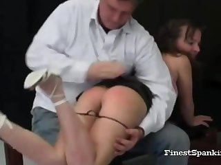 Unconventional Bondage Spanking Heaping up