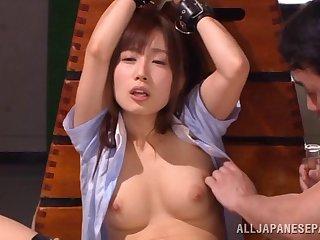 Enslaved Japanese whore Minami Kojima savage pleasured