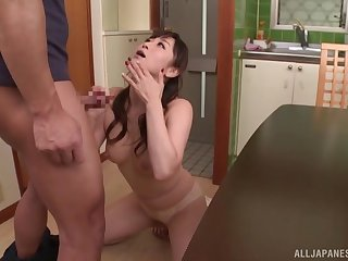 Japanese wife has been craving for cock for ergo ache