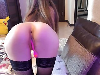 Russian Girl Shows Ass In Doggy-Style With Vagina Wet