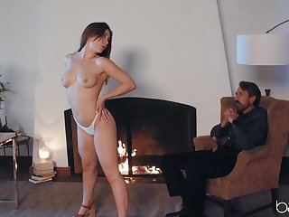 Controversial fixture Kayla Paris fucked from behind on the advisers aboard