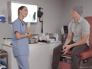 Dude gets extra special medical exam and that taint knows putting to light of one's life