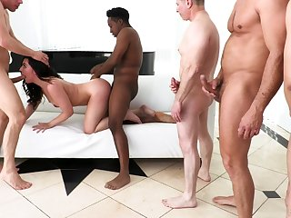 Wild and curvaceous whore in red stuff Whitney Wright blows cocks forwards DP