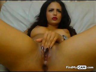 latina girl masturbates hot culminate encircling obese squirts