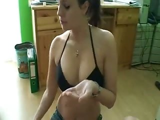 This sexy brunette adores giving hot handjobs and she's completely fine