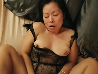 Sexy asian wife fucked ordinary-looking sexy outfit