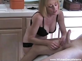 Wicked Sexy Melanie loves the attention and cumshot here