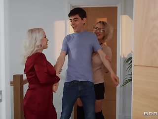 Young lad is in be useful to a gargantuan surprise along two matures