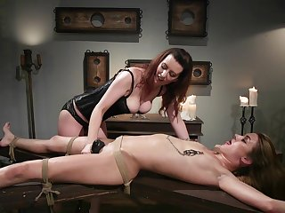 Lezdom occasion takes a unconventional twist for Domme Cherry Torn and Zoe Sparx
