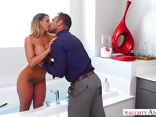 Wife's prexy friend Brooklyn Chase turned out to be a perfect bitch