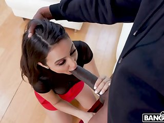 Long legged sexy cowgirl feels good fucking doggy with black ray
