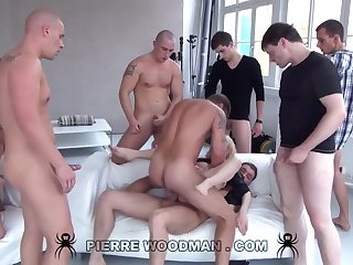 Youthfull Russian Aside Gets Group-Fucked Wits Eight Wild Pervs