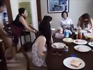 Naughty Chinese henchman is banging his wifey in front of his family, and loving it